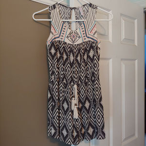 Xhilaration Black & Cream Romper